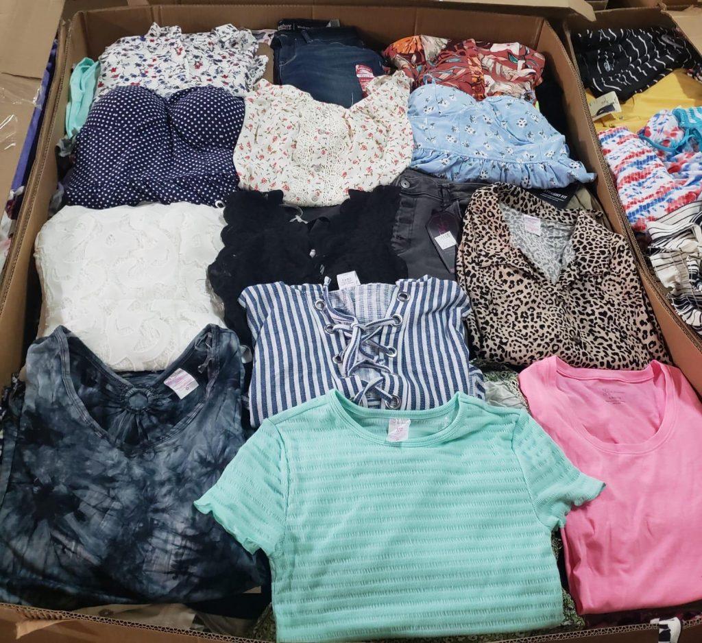 pacas y palets de ropa de mujer por mayor